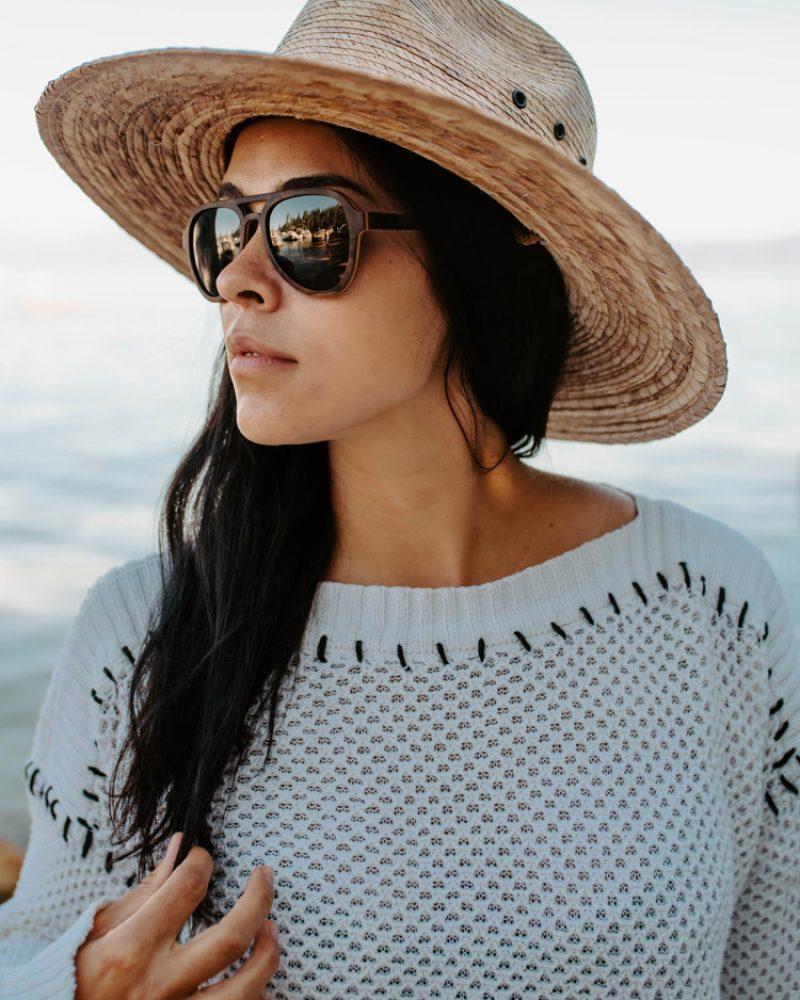 Wooden Sunglasses at Lake Tahoe